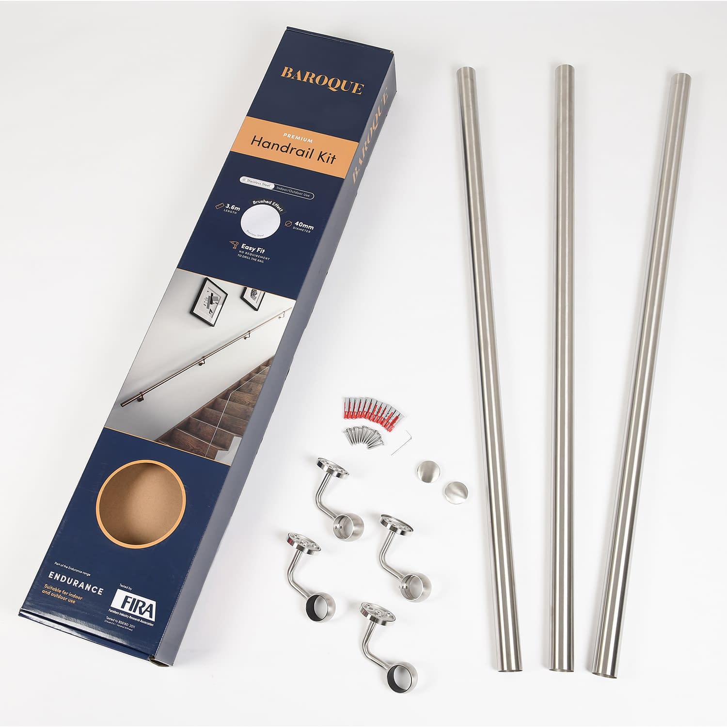 Brushed Stainless Steel Handrail Kit