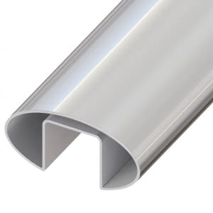 60mm x 30mm Stainless Steel Slotted Handrail Tube