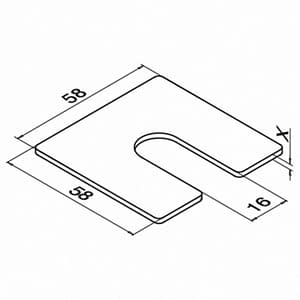 Technical Drawing for Easy Glass Smart Spacer Shim