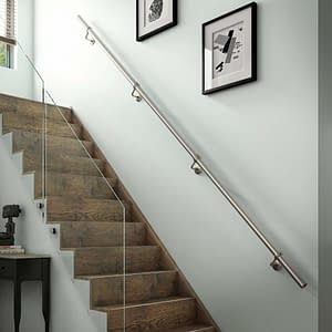3.6m Stainless Steel Handrail on Staircase