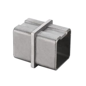 Grade 316 Stainless Steel In-Line Connector for 40mm x 40mm Handrail Tube