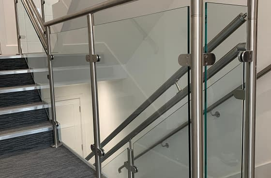 Post & Rail Balustrade System on Apartment Block Staircase