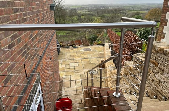 Grade 316 Stainless Steel WIre Rope Balustrade System